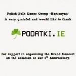 """Polonijny Zespół Pieśni i Tańca """"Koniczyna"""" Dublin"""